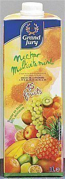 Nectar Multifruits 15 fruits la brique de 1 L
