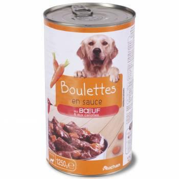 AUCHAN Boulettes en sauce Boeuf et Carottes