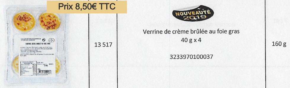 Verrine crèmes brûlée foie gras