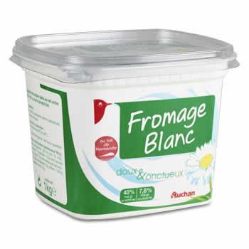 AUCHAN Fromage blanc 7.8% de M.G. 1 Kg
