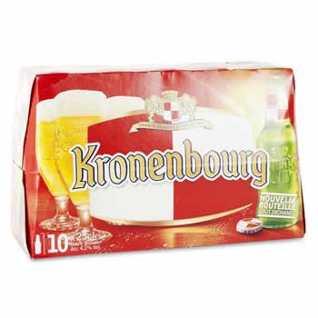 KRONENBOURG Bière blonde 10x25cl