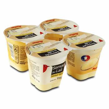 AUCHAN Semoule au lait