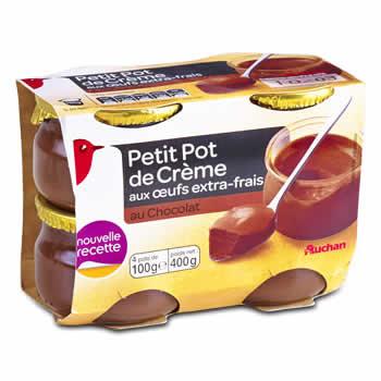 AUCHAN Crèmes au Chocolat
