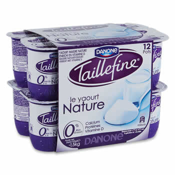 TAILLEFINE Yaourts natures 0%