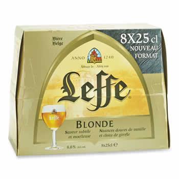 LEFFE Bière blonde  D'Abbaye 8x25cl