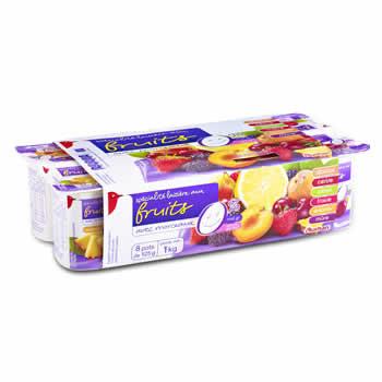 AUCHAN Yaourts aux fruits 8 x 125g