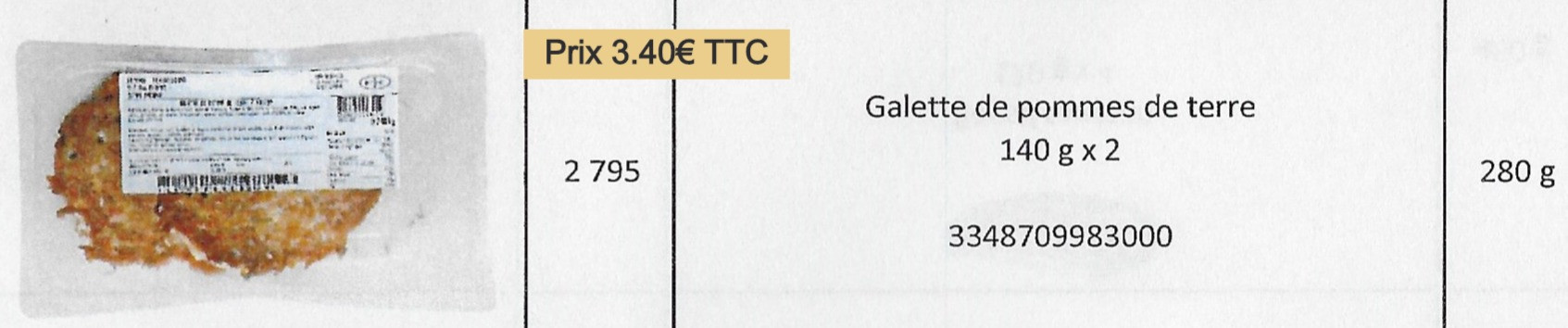 Galette PDT