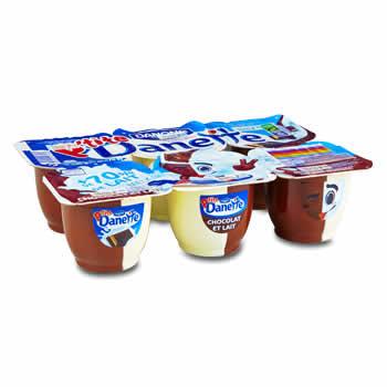 DANETTE Crèmes desserts au Lait et au Chocolat