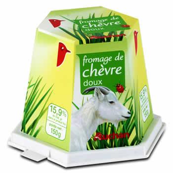 AUCHAN Fromage de chèvre 150g