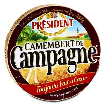 Camembert de Campagne toujours fait à coeur 250 g
