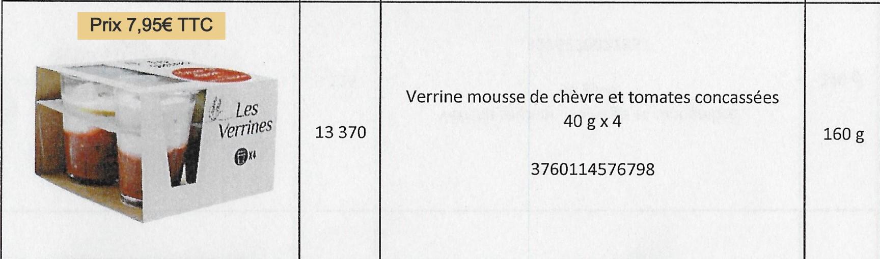 Verrines mousse chèvre_tom.concassées