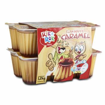 12 x RIK&ROK Flans nappés au Caramel