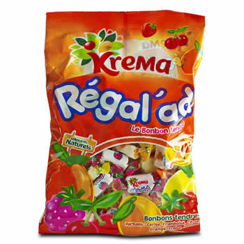 Bonbons Régalad KREMA aux arômes de fruits - 150g