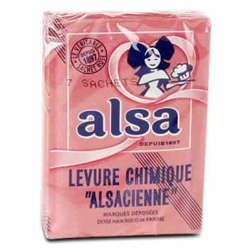 """ALSA Levure chimique """"Alsacienne"""" 7 x 11 g"""