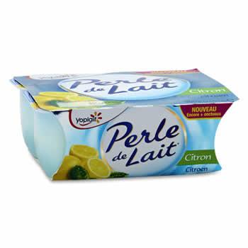 PERLE DE LAIT Yaourts aromatisés au Citron