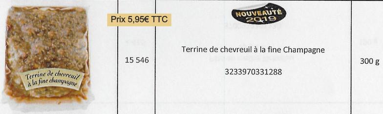 Terrine chevreuil fine Champagne