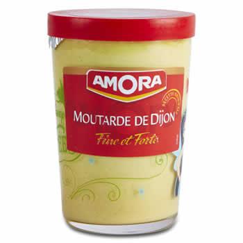 AMORA Moutarde fine et forte de Dijon 195 g