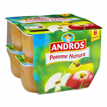 ANDROS Compote de Pomme nature