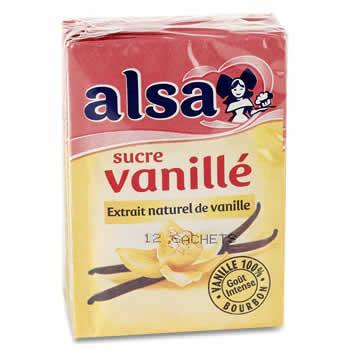 ALSA Sucre vanillé 12 x 7,5 g