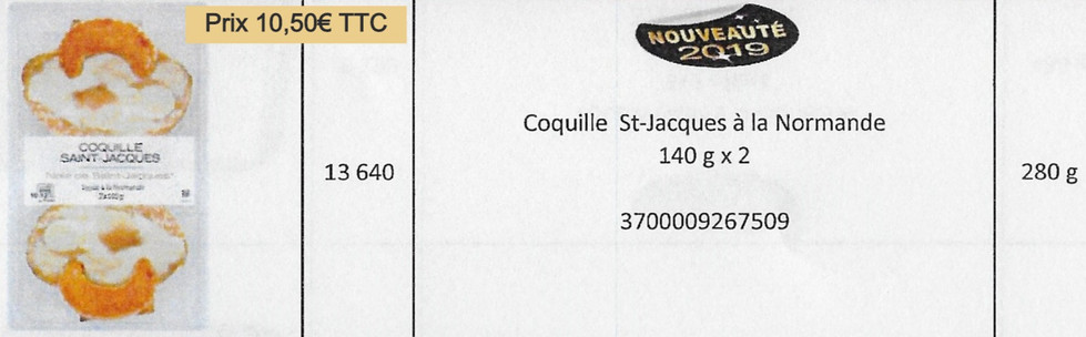 Coquille St-Jacques Normande