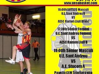 Domingo intenso para la U.E. Sant Andreu Bàsket
