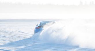 Porsche Schneedrift