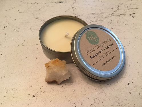 Vegan Bergamot + Lemon Massage Candle