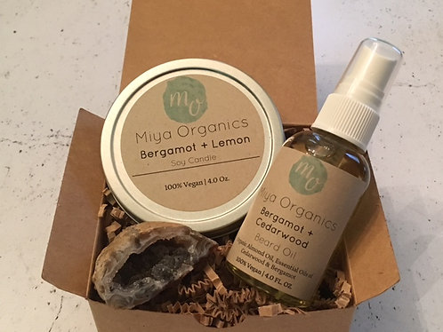 Men's Grooming Gift Set- Bergamot Collection