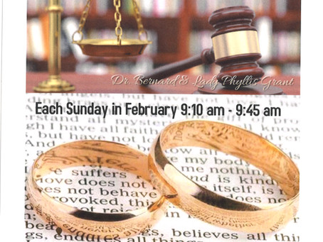 Join us every Sunday in February at 9:10 AM Marriage Ministry