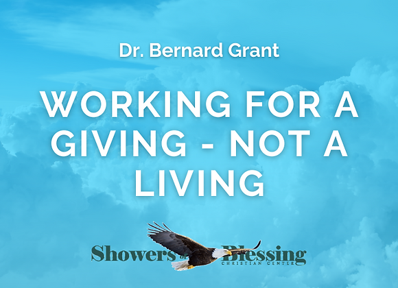 Working for a Giving - Not a Living | CD