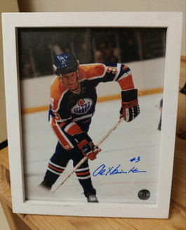 Al Hamilton signed 8 x 10 Edmonton Oilers photo (with certified sticker)  from Iconic Ink Sports Memorabilia