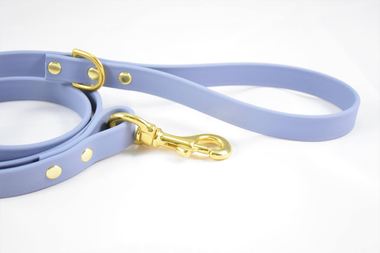 1 lavender colored biothane leash with brass accents from Dog Dog Goose: Houndmaid Goods