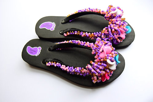 Handmade Beads Strap Flip Flop