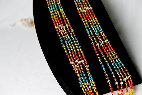 Multicolour waist beads