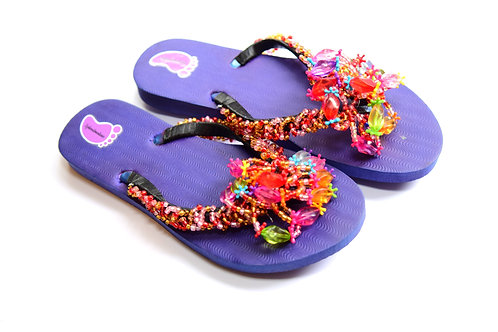 African Style Beads Flip Flop
