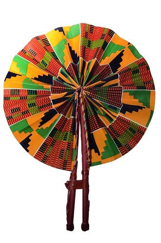 Foldable Elegant Ankara/African Print Handheld Fan