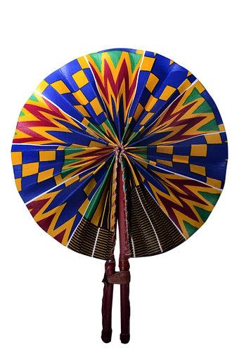 African Fabric Folding Handheld Fan/African Print