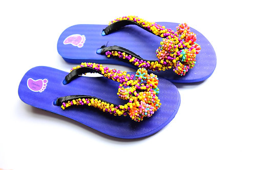 Hand Crafted Beads Strap Flip Flop
