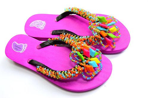 Shining Beads Strap Flip Flop