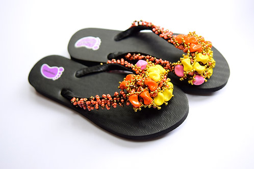 Hand Crafted Beads Flip Flop