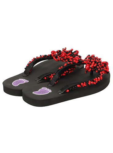 African Beads Strap Flip Flop