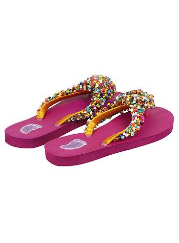 Multicolor Beads Strap Flip Flop