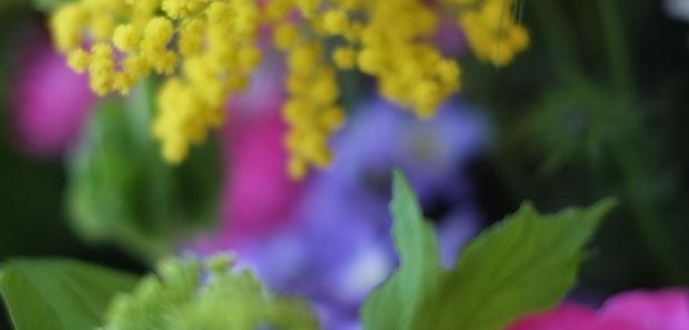 花束のラッピング