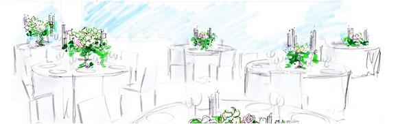 婚礼装花のイラスト