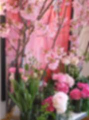 桜のショップディスプレイ