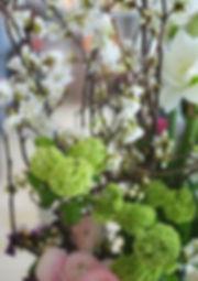 吉野桜のアレンジメント