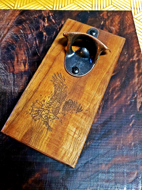 Walnut Magnetic Bottle Opener (custom engraving)