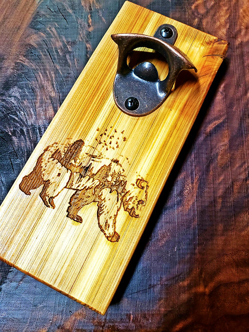 Western Red Cedar Magnetic Bottle Opener (custom engraving)