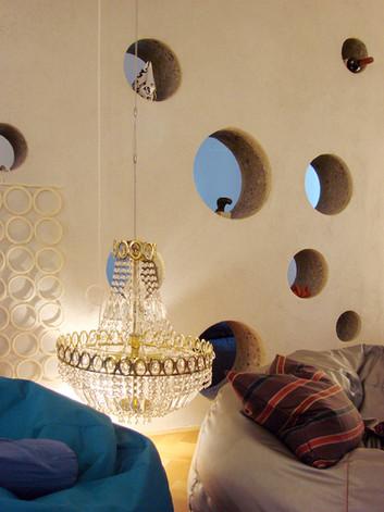 studio db ai labyrinth apartment design chandelier design moon