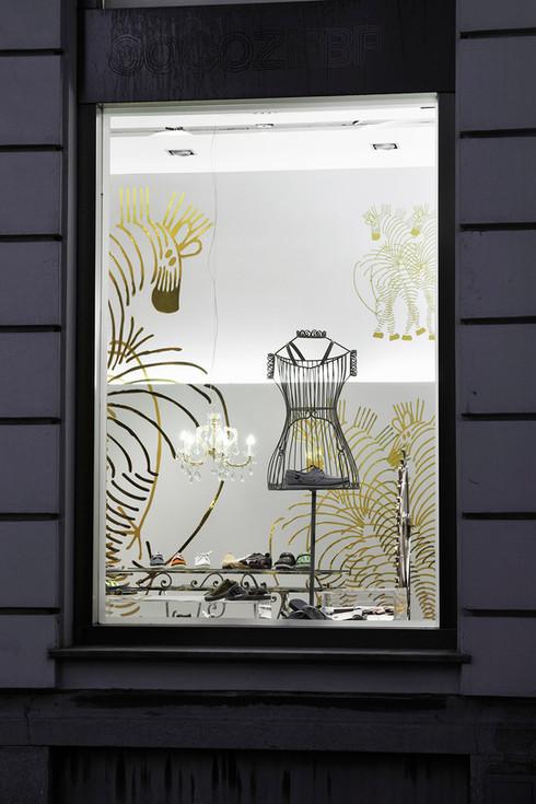 studio db ai art deco fashion boutique best window display design
